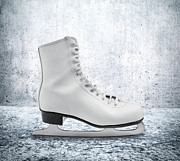 Shoe Digital Art Posters - Figure Skate Poster by Wim Lanclus