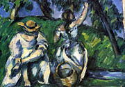 John Peter Metal Prints - Figures by Cezanne Metal Print by John Peter