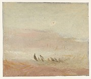 Painter Drawings Prints - Figures on a beach study 1845 Print by Joseph Mallord William Turner