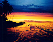 Relaxed Photo Originals - Fiji Paradise Sunset by Jerome Stumphauzer