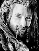 Rings Drawings Prints - Fili the Dwarf Print by Kayleigh Semeniuk