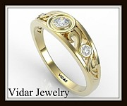 Roi Avidar - Filigree Diamond 14k...