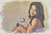 Filipina Prints - Filipina Rose Print by Will Wagner