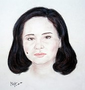 Beauty Mark Mixed Media - Filipino TV executive host actress and producer Charo Santos by Jim Fitzpatrick