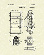 Camera Drawings Prints - Film Camera 1935 Patent Art Print by Prior Art Design