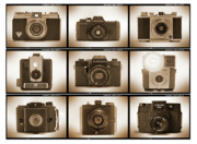 Holga Camera Digital Art Prints - Film Camera Proofs 3 Print by Mike McGlothlen