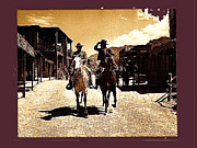 Cameron Mitchell Art - Film homage Mark Slade Cameron Mitchell riding horses The High Chaparral Old Tucson Arizona by David Lee Guss