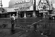 Richard Conte Art - Film noir Jules dassin Richard conte Thieves highway rain sundance west Las Vegas Nevada 1977 by David Lee Guss