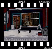 Window Signs Digital Art - Film Store Christmas by Barbara St Jean
