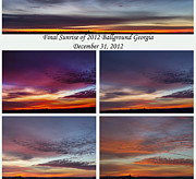 Canvas Photo Originals - Final 2012 Sunrise Combo by Michael Waters