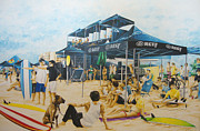 Surfing Art Paintings - Final Heat by William Love