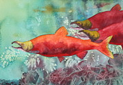 Salmon Paintings - Final Journey by Nancy Jolley