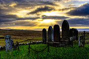 Headstones Digital Art Prints - Final Rest On The Isle Of Skye Print by Mark E Tisdale