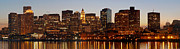 Custom House Tower Framed Prints - Financial District of Boston Panorama Framed Print by Juergen Roth