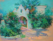 Spanish Pastels - Finca Gateway by Heather Harman
