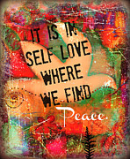 Affirmation Posters - Find Peace Poster by Tara Catalano