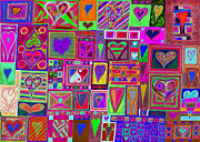 Celebration Art Print Framed Prints - find Ur love found v5 Framed Print by Kenneth James