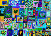Celebration Art Print Framed Prints - find Ur love found v7 Framed Print by Kenneth James