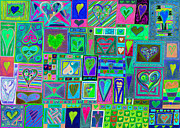 Celebration Art Print Framed Prints - find Ur love found v9 Framed Print by Kenneth James