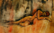 Figure Drawings - Finding Refuge by Peggi Habets
