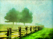 Split Rail Fence Metal Prints - Finding your Way Metal Print by Darren Fisher