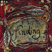 Burgundy Mixed Media Posters - Finding...me Poster by Shawn Petite