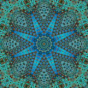 Kaleidoscope Digital Art - Findings 2 by Wendy J St Christopher
