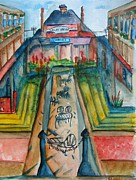 Downtown Cincinnati Paintings - Findlay Market by Elaine Duras