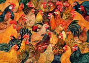 Rooster Painting Prints - Fine Fowl Print by Ditz