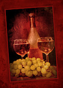 Wine Pour Digital Art Framed Prints - Fine Wine Framed Print by Cindy Haggerty