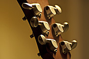 Guitar Headstock Framed Prints - Finely Tuned Framed Print by Christopher Gaston