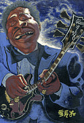 B.b.king Paintings - Finessing Lucille - B.B. King by Ebenlo PainterOfSong