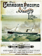 Shipping Digital Art Posters - Finest Steamships On Inland Waters Poster by Nomad Art And  Design