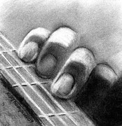 Fingers Pastels Acrylic Prints - Finger Chords Acrylic Print by Kimber Thompson