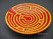 Spiritual  Glass Art - Finger Labyrinth Bowl 2 by James Burchett