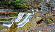 Finger Lakes Prints - Finger Lakes Robert Treman Park Print by Robert Harmon