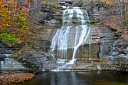 Finger Lakes Framed Prints - Finger Lakes Water Cascade Framed Print by Robert Harmon