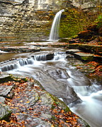 Finger Lakes Posters - Finger Lakes Waterfall Poster by Robert Harmon