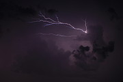 Lightning Storms Photo Prints - Finger of God too Print by Reid Callaway