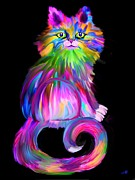 Pets Digital Art - Finger Painted Cat by Nick Gustafson