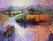 Floods Paintings - Fingerboard Road by Marie Green