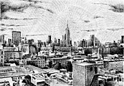 New York State Drawings - Fingerprint - New-York by Nicolas Jolly