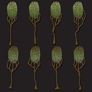 Wacom Tablet Posters - Fingerprint Series - Forest Poster by Fran Hogan