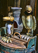 Handcrafted Art - Finish Wooden Birds by Linda Phelps