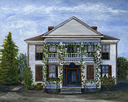 Building Painting Originals - Finn Hotel Pleasant Hill Louisiana by Lenora  De Lude