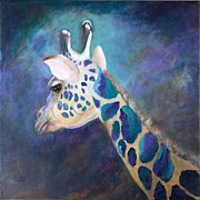 Giraffes Paintings - Finnegan by Lynn Rattray