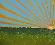 Horizon Lines Art - Finnegan Sunrise by John Pumphrey