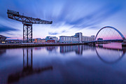 2014 Framed Prints - Finnieston Crane and Glasgow Arc Framed Print by John Farnan