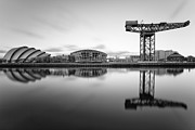 White River Scene Photo Framed Prints - Finnieston Crane Glasgow Framed Print by John Farnan