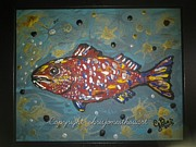 Funky Folk Fish Originals - FINomenal Funky Fish by Chris Bajon Jones